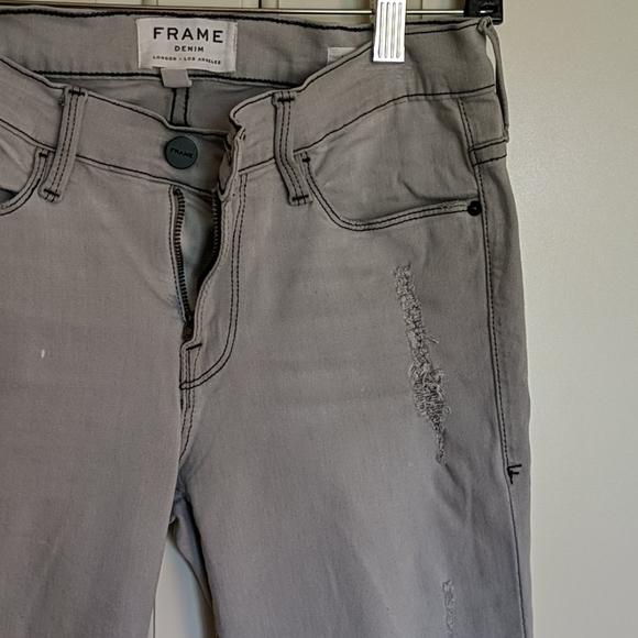 FRAME Le Skinny de Jeanne gray jeans 27